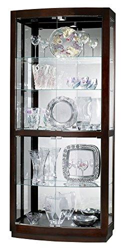 Howard Miller 680-395 Bradington Curio - Curio Curved Cabinet