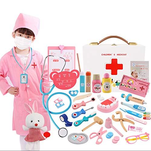 Simulación Pequeño Doctor Juguete Conjunto Chica Herramienta Médica Aguja de inyección Enfermera Niño Niño Jugar Casa...
