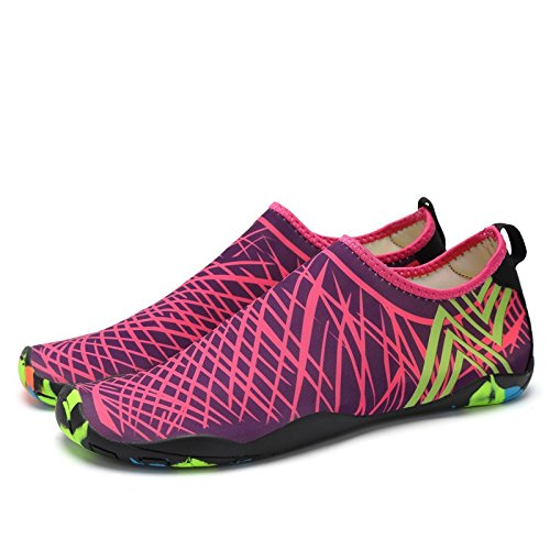 Lxso Men Women Water Shoes Multifunctional Quick-Dry Aqua Shoes Lightweight Swim Shoes With Drainage Holes Rose UGS3uDCr