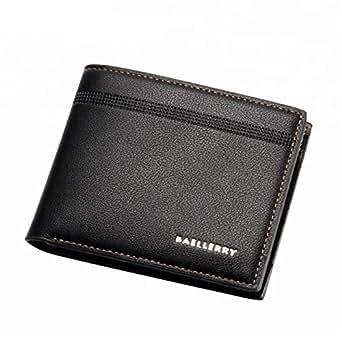 Baellerry Black Leather For Men - Bifold Wallets