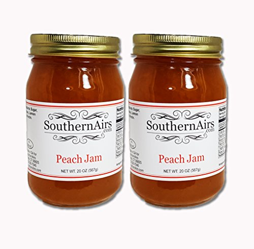 New Preserves (New SouthernAirs Peach Jam 2-pack / All-natural Georgia peaches / Sweet Southern style recipe / 20oz (2 - 20oz Jars))