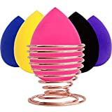 Makeup Sponge With Holder LIPRAP - Egg Shaped Beauty Sponge Pack Plus Stand Case Set - Face Blending Sponges For Cosmetic Brush and Foundation and Powders and Concealer - Prime Applicator