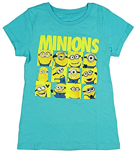 Despicable Me Little Girls' Character Grid T-Shirt (X-Small, 4/5)