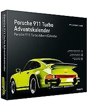FRANZIS Porsche 911 Turbo Adventskalender 2021, lichtgroen, in 24 stappen naar de Porsche 911 Turbo onder de kerstboom, voertuigbouwset 1:43, geïntegreerde geluidsmodule, aanbevolen vanaf 14 jaar