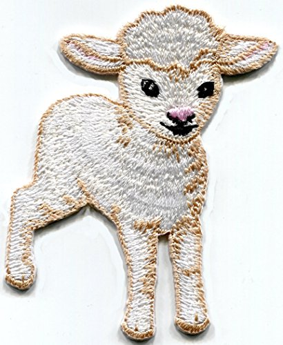 Lamb baby sheep embroidered applique iron-on patch S-1492 - Embroidered Lamb