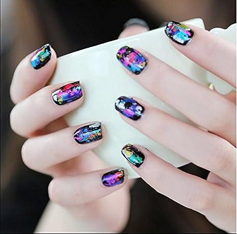 Amazon Com Xichen Starry Sky Stars Nail Art Stickers Tips Wraps