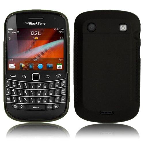 Cbus Wireless Black Matte Finish Flex-Gel Case / Skin / Cover for BlackBerry Bold 9900 / 9930
