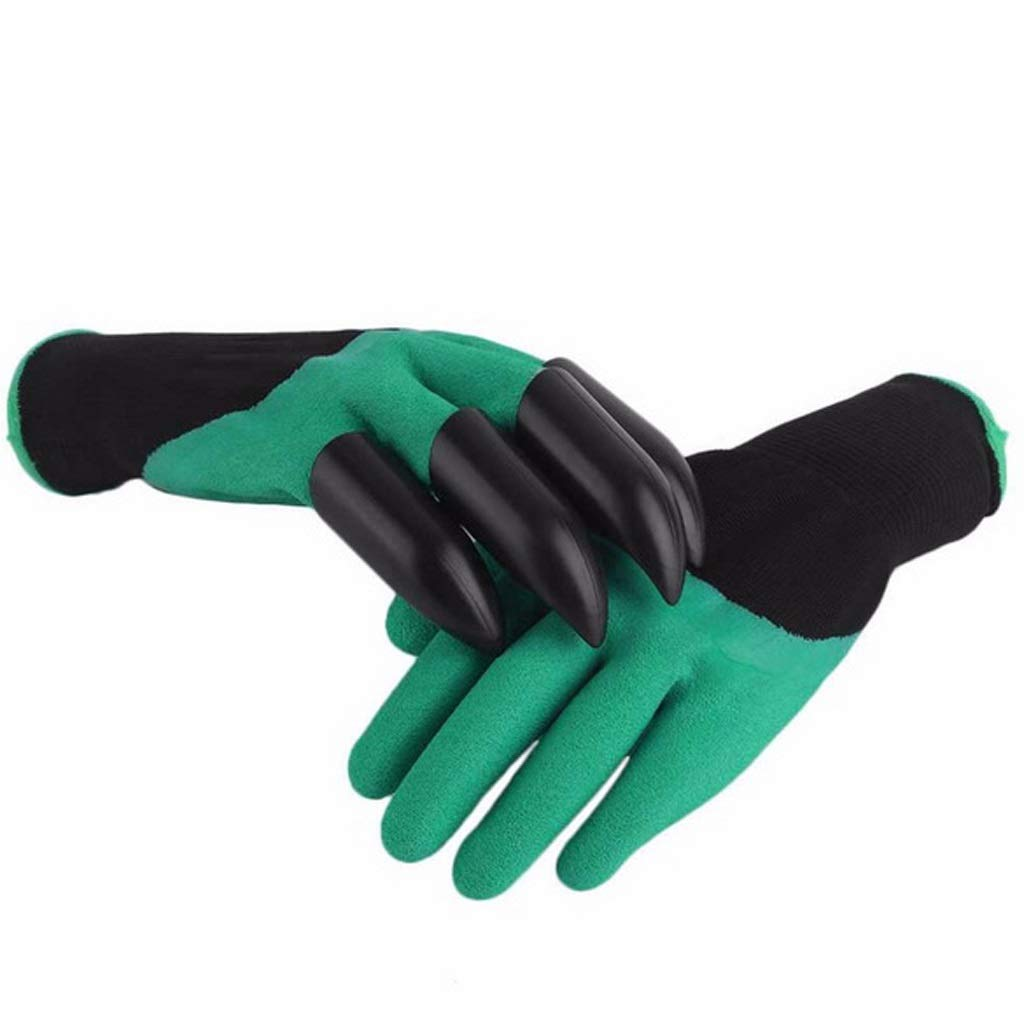 RYYAIYL Gloves Excavation Protection Claws Planting Wear-Resistant Gloves Have Built-in Claws The Gloves Contain Gloves with 4 ABS Plastic Claws(1 Pairs) by RYYAIYL