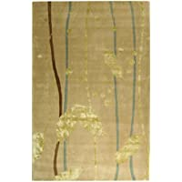Safavieh Rodeo Drive Collection RD888A Handmade Abstract Ivory and Gold Wool Area Rug (6 x 9)