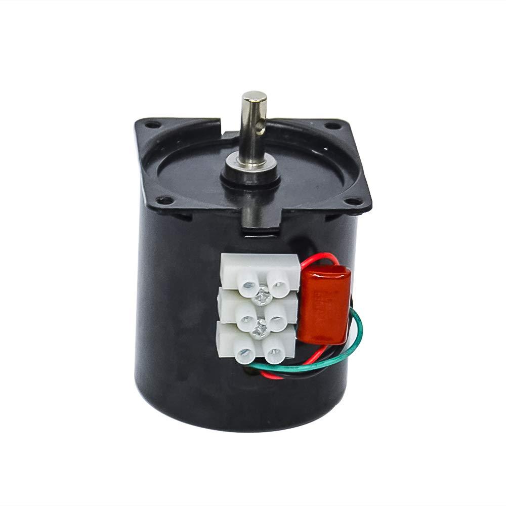 Motor eléctrico pequeño AC 220 V 28 W ajustable de baja velocidad con imán permanente para asador de tocadiscos, AC 220 V, 60 RPM, 68