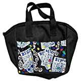 SII New!!! Bingo #1 Dauber 6 Pocket Tote Bag (Black)