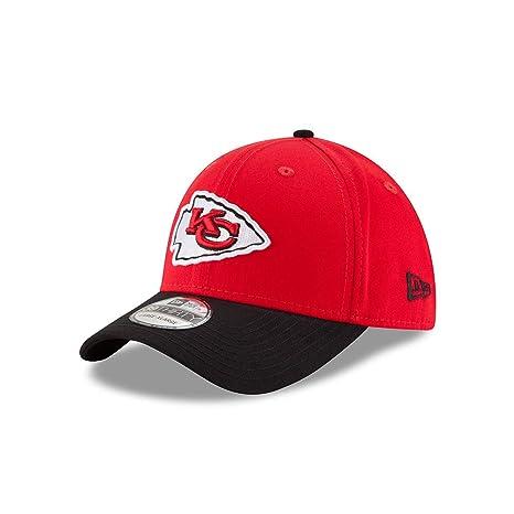3b9333204 New Era Kansas City Chiefs Clean Hit 39THIRTY Flex Fit Hat Cap Medium Large