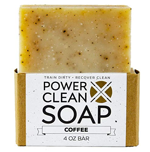 Organic Coffee Bar Exfoliating Soap for Athletes with Essential Oils of Lemon, Lavendin, Orange, and Patchouli plus Organic Ground Coffee. For All Skin Types. Non GMO, SLS Free 4 oz Bar (Coffee Organic Lemon)