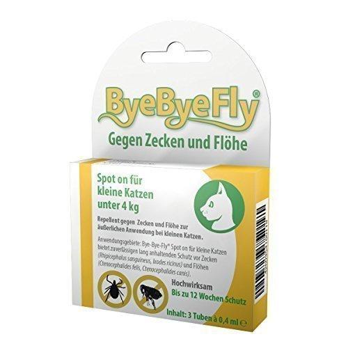 ByeByeFly - Spot on für kleine Katzen - 3er Packung