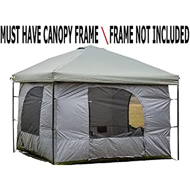 Standing Room 100 XL Family Cabin Camping Tent With 8.5 feet of Head Room,4 Big Screen Doors,All Season Weather Proof Fabric, Fast & Easy Set Up. …