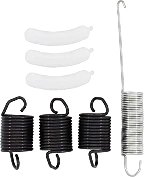 3 Pack Suspension Spring WP63907 /& 1 Pack Counterweight Counter Balance W10250667 /& 3 PackTub Wear Pad 285744 For Washing Machine Kit Whirlpool Washer
