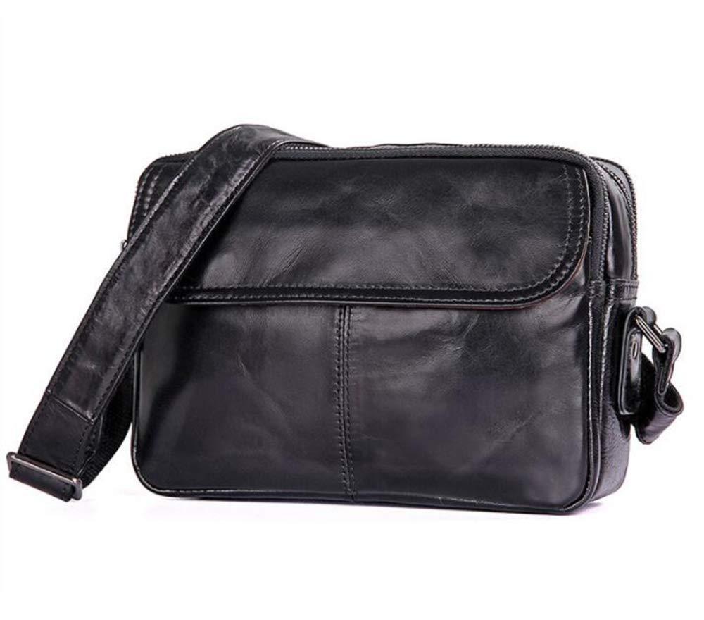 Sxuefang Mens Shoulder Bag Mens Messenger Bag Leather Casual Shoulder Bag Small and Simple Shoulder Bag 23.5x9x17cm