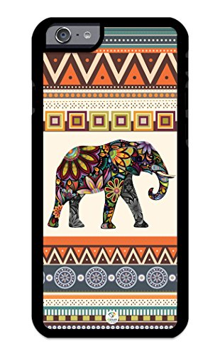 iZERCASE iPhone 6, iPhone 6S Case Elephant Art on Aztec Pattern RUBBER CASE – Fits iPhone 6, iPhone 6S T-Mobile, Verizon, ATT, Sprint and Internation…
