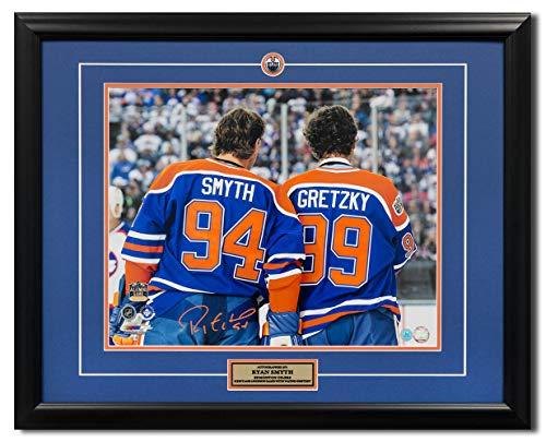 - AJ Sports World Ryan Symth Edmonton Oilers Signed Heritage Legends Game Gretzky 25x31 Frame