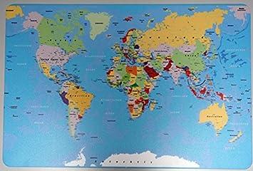 Schreibtischunterlage Weltkarte Landkarte Erde 40 X 60 Cm