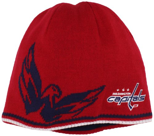 Nhl Reversible Knit Hat - NHL Washington Capitals Reversible Player Knit Hat, One Size,Red