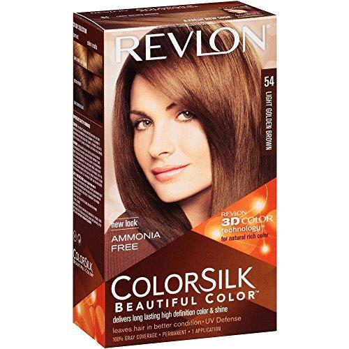 Revlon ColorSilk Hair Color 54 Light Golden Brown 1 Each (Pack of 2)