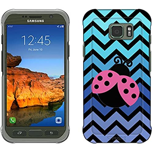 Samsung Galaxy S7 Active Case, Snap On Cover by Trek Chevron Teal Blue Lady Bug Black Slim Case Sales