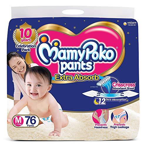 MamyPoko Pants Extra Absorb Diaper Medium M Size 76 Pieces