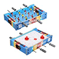 Virhuck Mini Table Top Foosball, Mini Air Hockey Table and Mini Table Top Pool Table Billiard Table for Kids 19/20/27 Inches Soccer Game Table Indoor & Outdoor Soccer Game Kids Adults Toy
