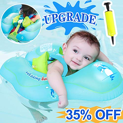 【Upgrade】Baby Swimming Float Ring-Baby Spring Floats Swim Trainer