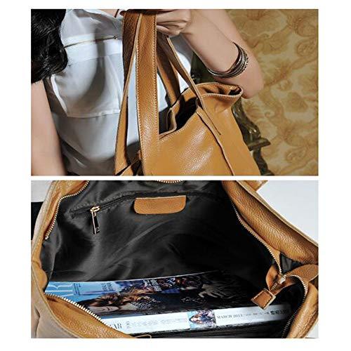 Bandoulière À A Kaki Main Brown Minimaliste Femme 12 44cm 33 Jhkj Sauvage Élégant Messenger Sac Pour Grande Capacité qHpYnxU