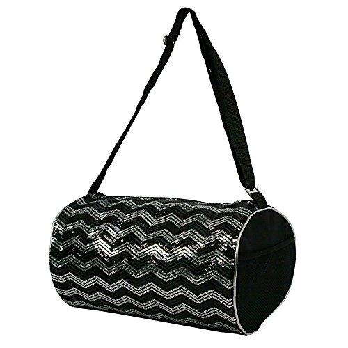 Dance Sequin - Princess Duffle Bag Chevron Sequin Bag, Black