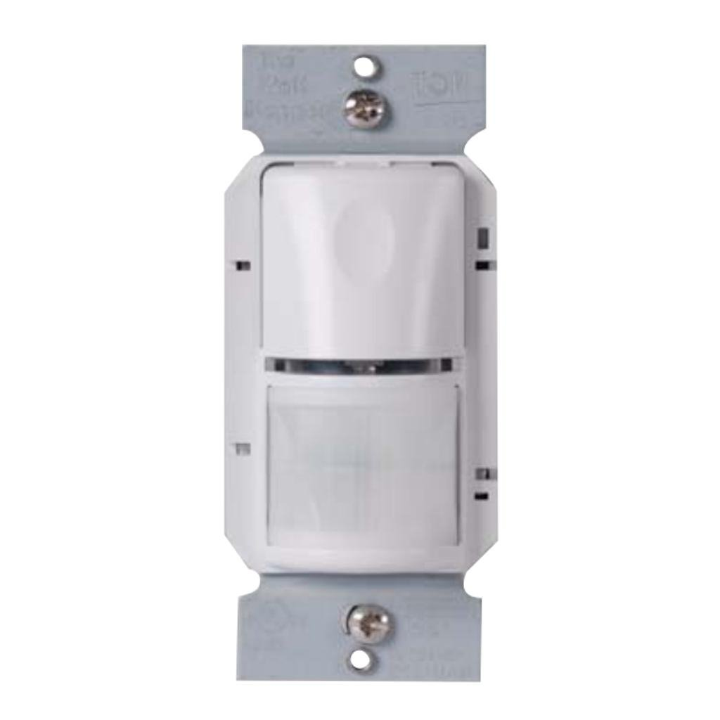 Wattstopper WS-301-W Passive Infrared Wall Switch Occupancy Motion Sensor with Neutral Sense Technology, White