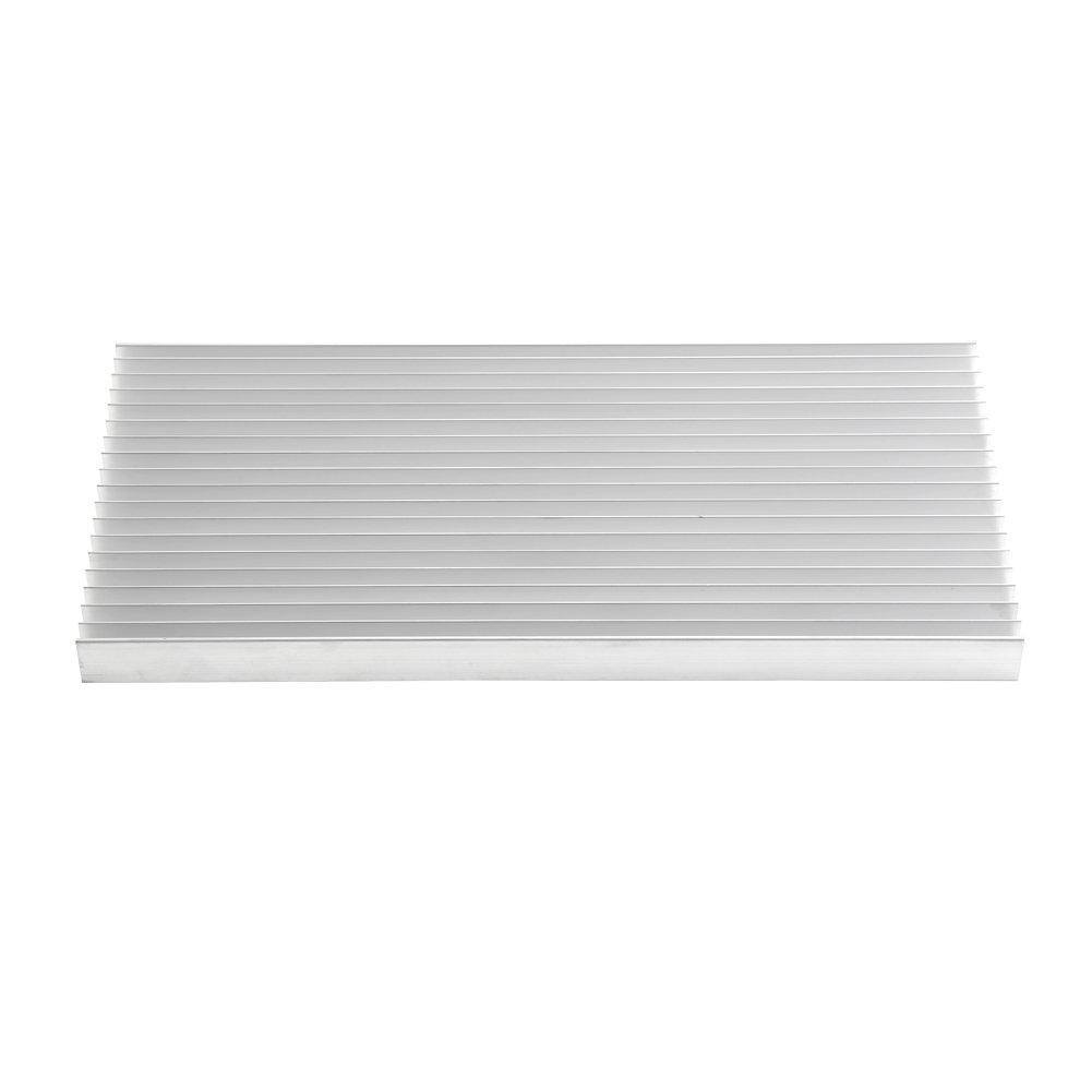 Aluminum Heat Sink Heatsink Module Cooler Fin for High Power Amplifier Transistor Semiconductor Devices with Dense 19 pcs Fins 11.8''(L) x 5.51''(W) x 0.79''(H) / 300 mm (L) x 140 mm (W) x 20 mm (H) by walfront (Image #2)