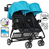 ZOE XL2 BEST Double Xtra Lightweight Twin Travel & Everyday Umbrella Stroller System (Aqua)