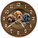 All Hands on Deck – Puppies Round Clock by Rosemary Millette Review