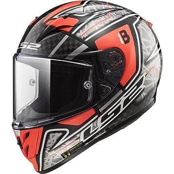 LS2 Cascos de Motocicleta Arrow C réplica Hector Barbera, Negro/Naranja, Talla XL