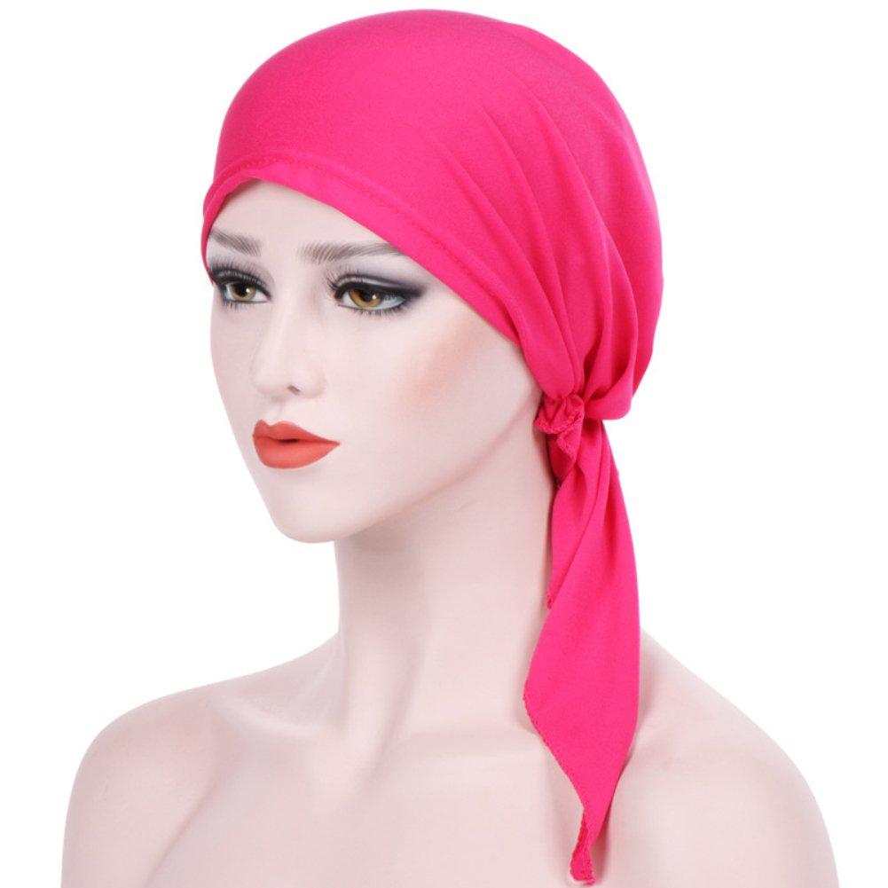 Trenton Bella Scarf Chemo Hat Turban Head Scarves Pre-Tied Headwear Bandana Tichel for Cancer (Black) by TRENTON (Image #8)
