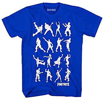 Epic Games Boys Fortnite Short Sleeve Graphic T-Shirt Boogie Dance Moves Officially Licensed - Blue - Medium (10/12)
