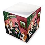 Home of Shiba Inu 4 Dogs Playing Poker Note Cube