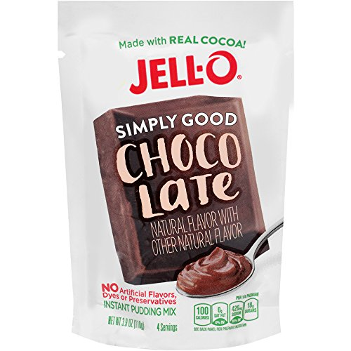 Jell O Simply Good Chocolate Instant Pudding Mix 3 9 Ounce Bag  Pack Of 12