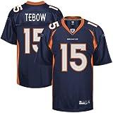 Tim Tebow Jersey: Reebok Navy #15 Denver Broncos Replica Jersey - XX-Large