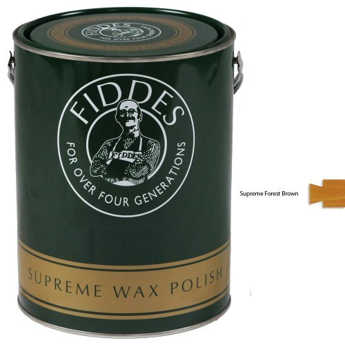 Fiddes Supreme Wax Polish 5Ltr Forest Brown - for furniture and internal woodwork by Fiddes