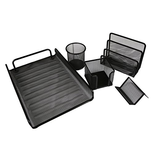Good active good active 5 piece office supplies desk for Active salon supplies