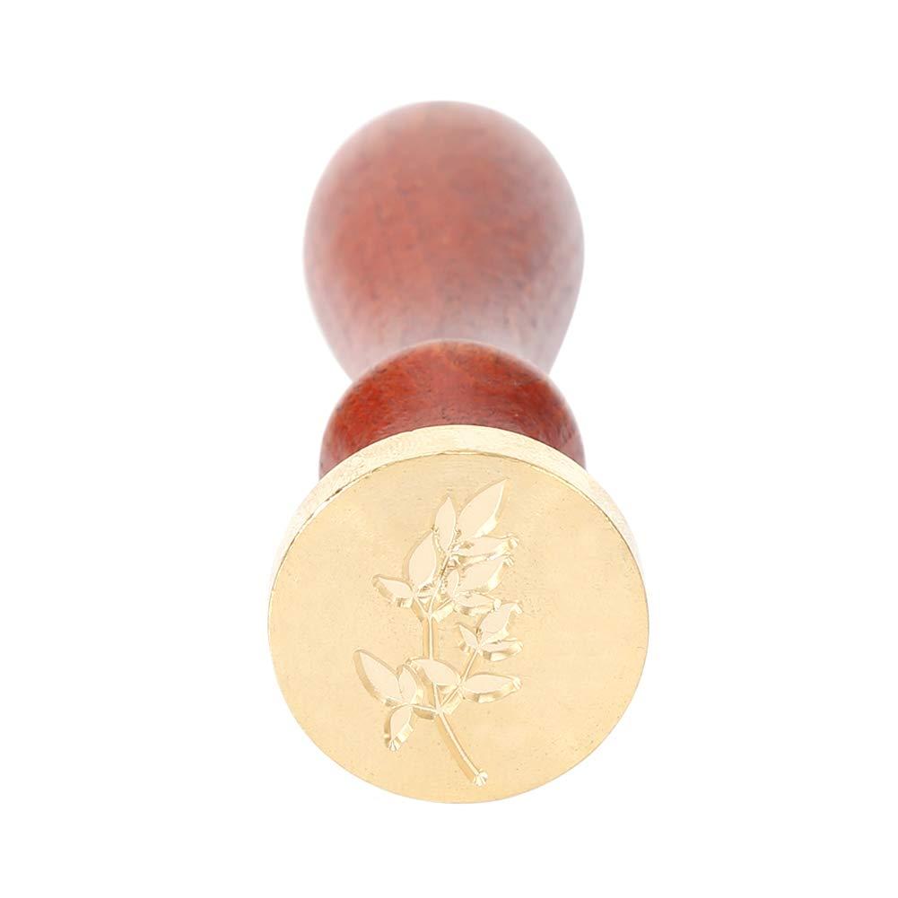 decoraci/ón Beech Leaf Sello de cera vintage Prosperveil para boda manualidades sello de cera personalizado con mango de madera para invitaci/ón sobres