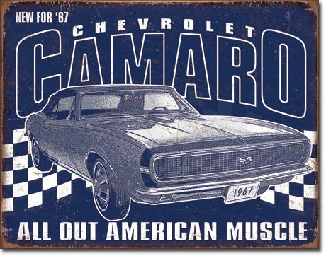 Muscle Car Signs - The Finest Website Inc. Chevrolet Camaro Muscle Car 16