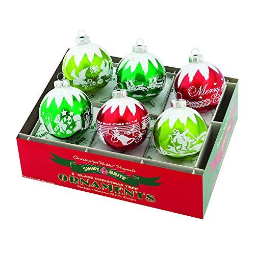 Radko Glass Ornament - Christopher Radko Holiday Splendor Glass Holiday Ornaments 3.25