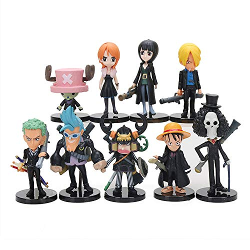 Coz' Place Set of 9 Pieces Mini One Piece Action Figures with Stands (One Piece Film: Strong World)