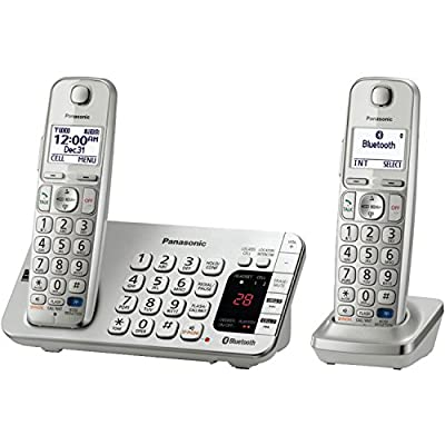 Panasonic KX-TGE272S Link2Cell Bluetooth Phone with Answering Machine and Set of 2 Cordless Handsets