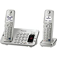 Panasonic KX-TGE272S Link2Cell Bluetooth Phone with Answering Machine and Set of 2 Cordless Handsets (Discontinued By Manufacturer)